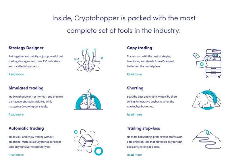 cryptohopper features
